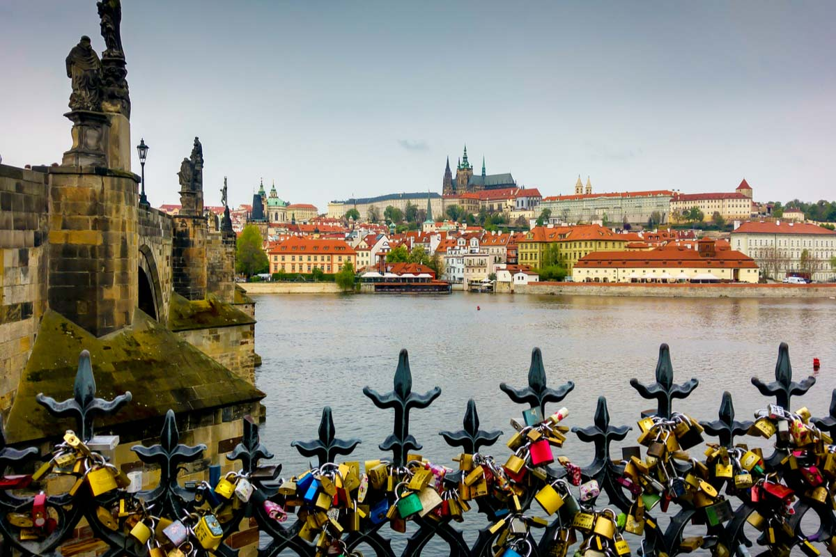 Padlocks at Charles Bridge, Prague