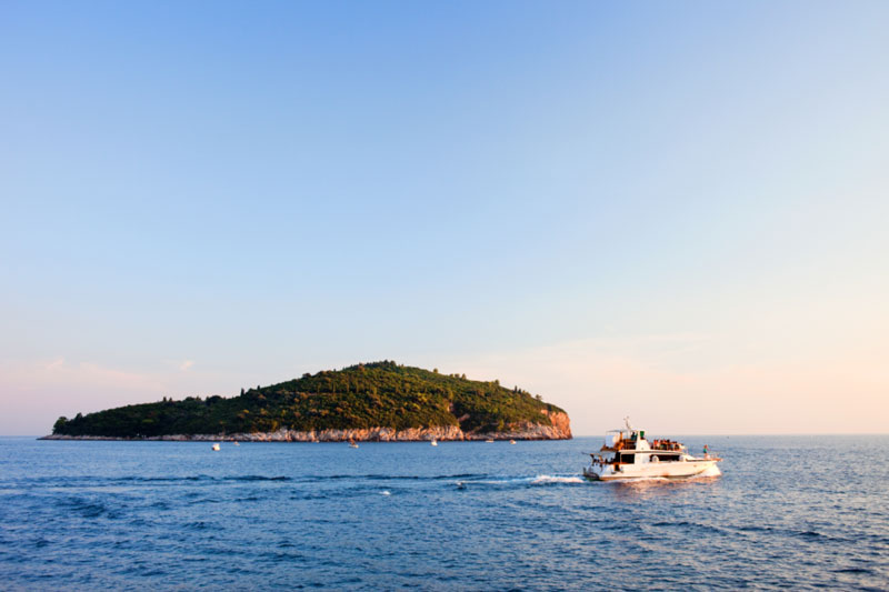 Adriatic island Lokrum is located about 600 metres (1969 feet) from the city of Dubrovnik.