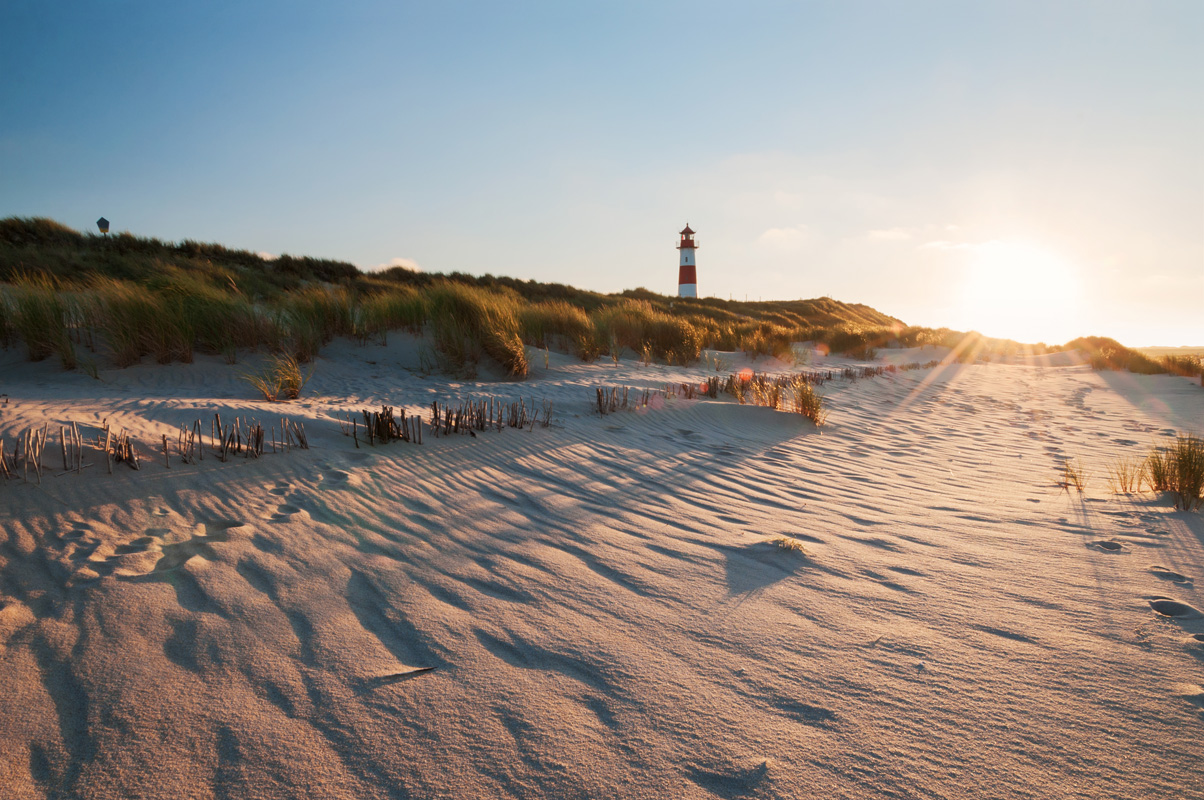 Beautiful beaches in Denmark.