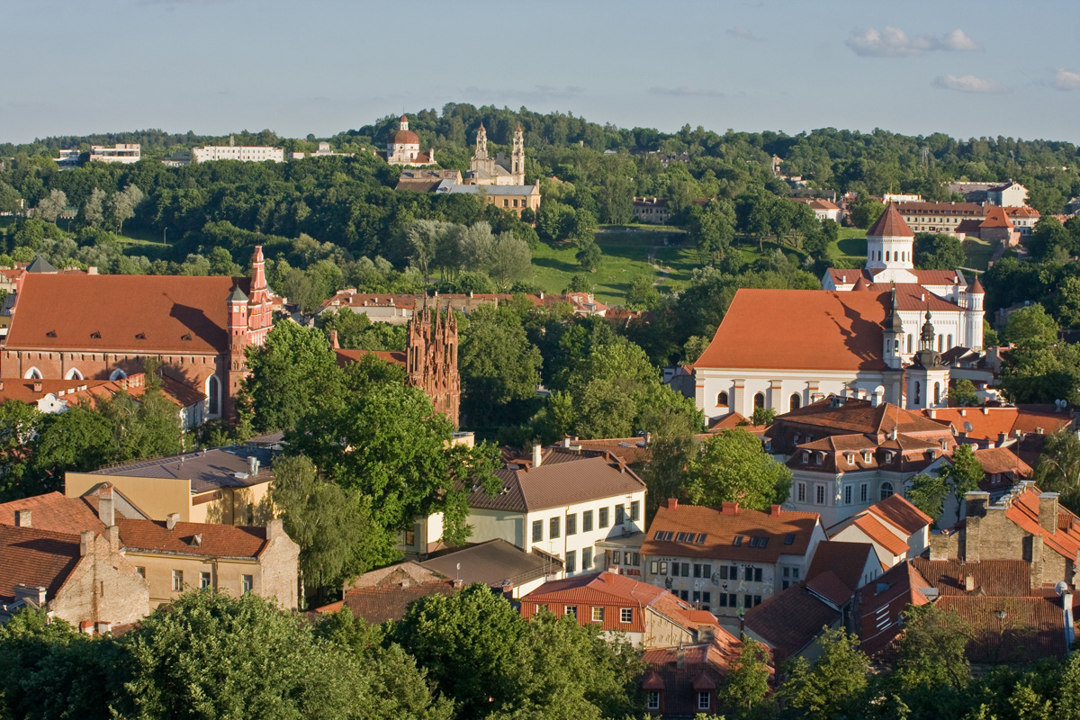 Vilnius, the capital city of Lithuania.
