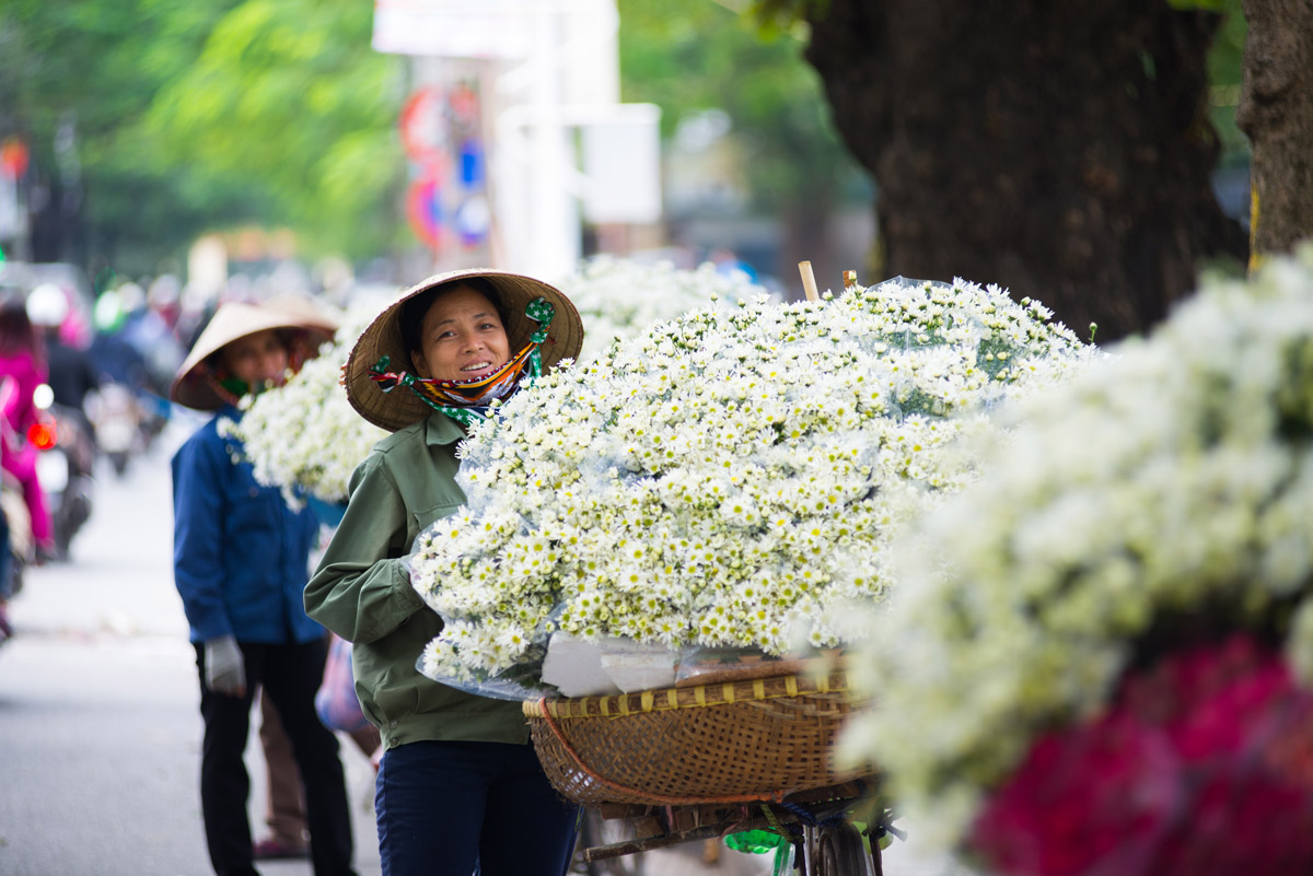 Flower Vendor, Hanoi