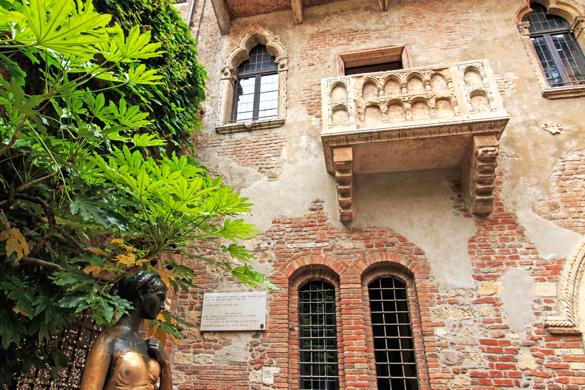 Juliet, Shakespeare's fictional character 'lived' here. People still write letters to Juliet. The letters get answered by A team of volunteer 'Juliet's secretaries' - they work in an upstairs room in the house.