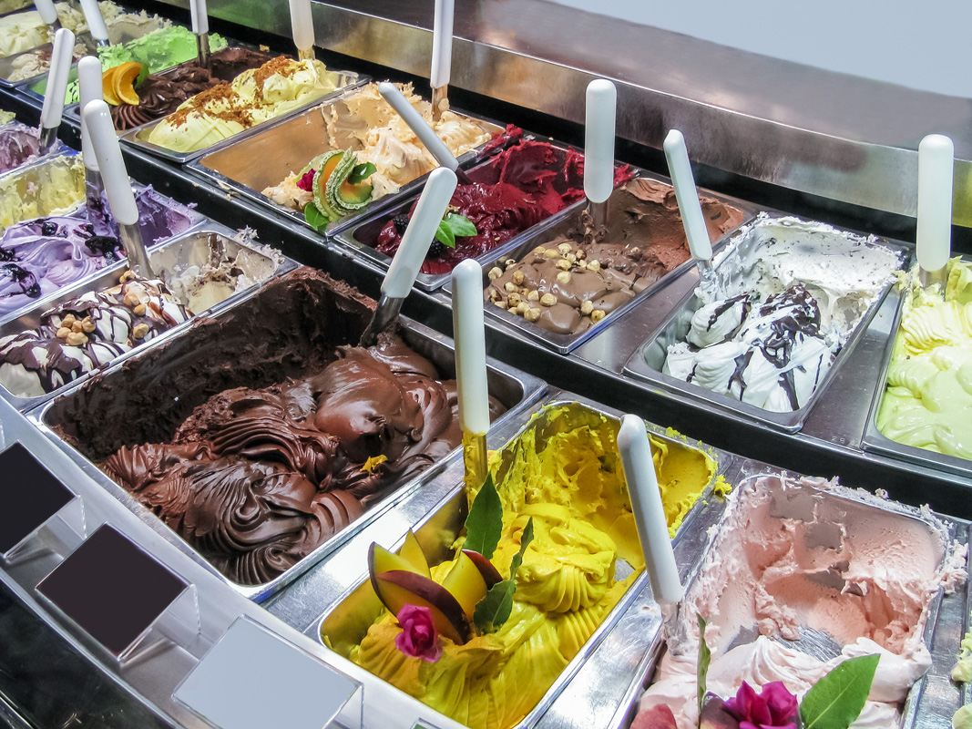 Gelato - any flavour imaginable!