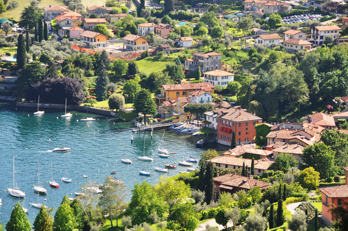 Lake Como is Italy's 3rd largest lake and also one of the deepest as it was formed during the last Ice Age.
