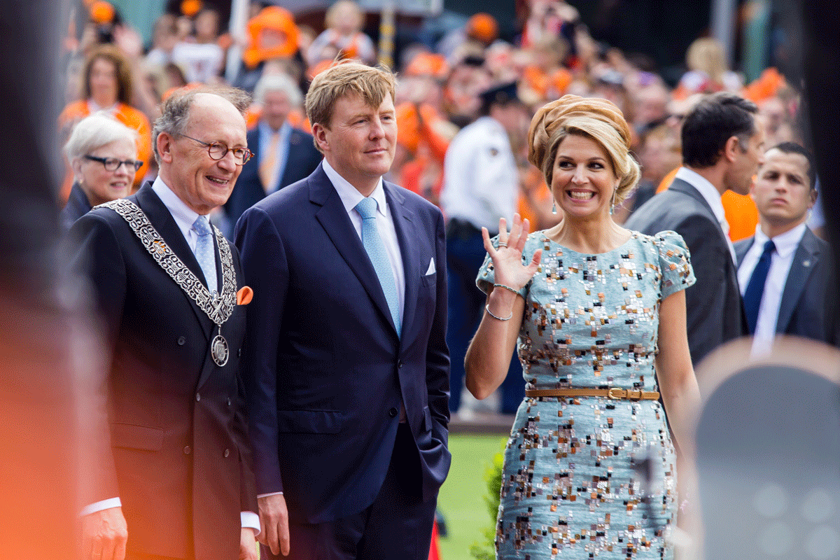 The Dutch Royals parade the streets on King's Day.