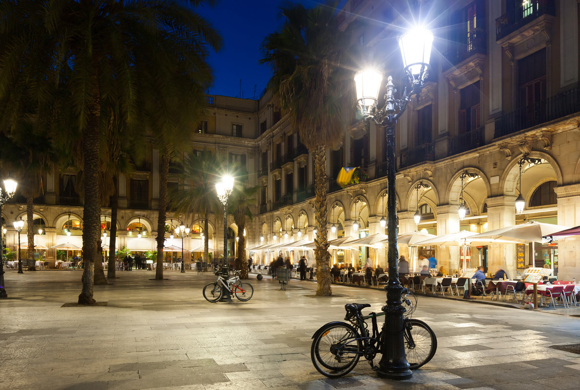 When in Placa Reial keep your eyes peeled for some of the initial work by Gaudi.