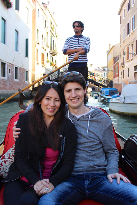 One simply cannot go to Venice and not take a gondola ride (especially on one's honeymoon!)