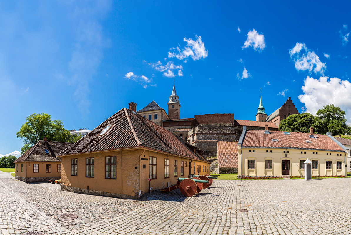 The medieval castle Akershus Fortress in Oslo