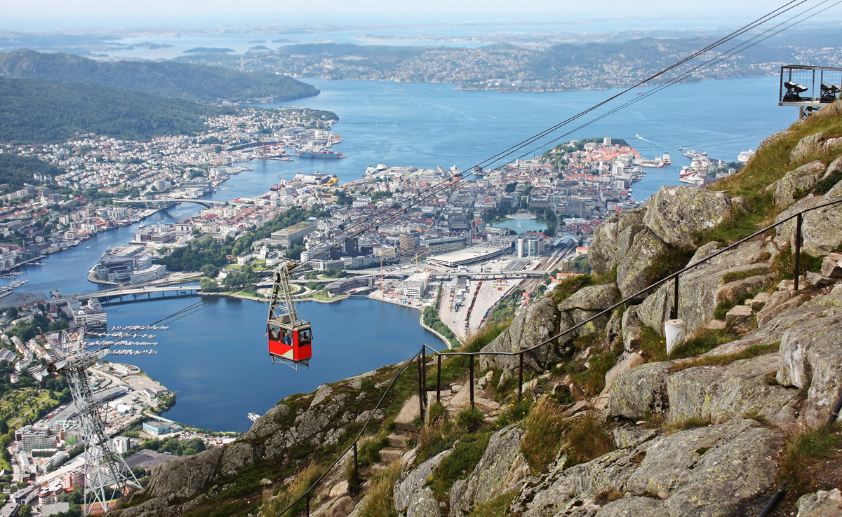 The city of Bergen from Mount Floyen.