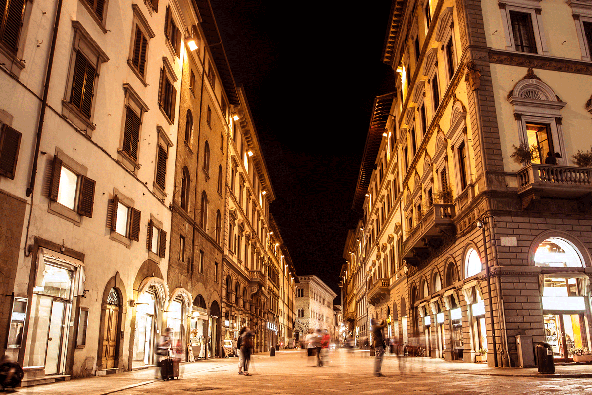 The streets of Firenze at night...