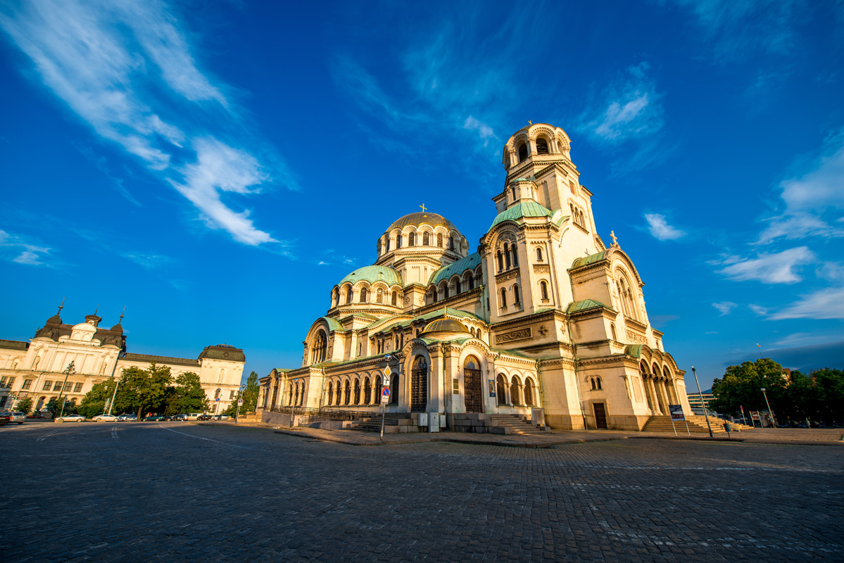 The famous Alexander Nevsky Cathedral.