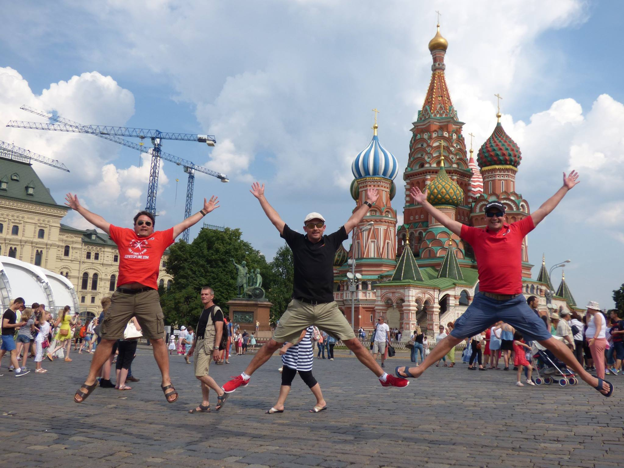 Carl and Jakes are the original X-jumpers! Here they are on a recent tour in Moscow, Russia.