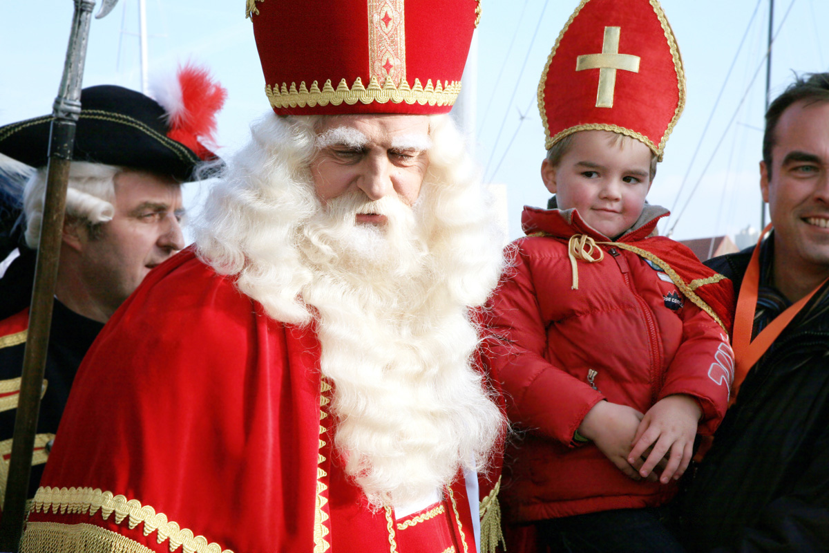 Saint Nicholas (or Sinterklaas in Dutch) at the large St. Nicholas parade.