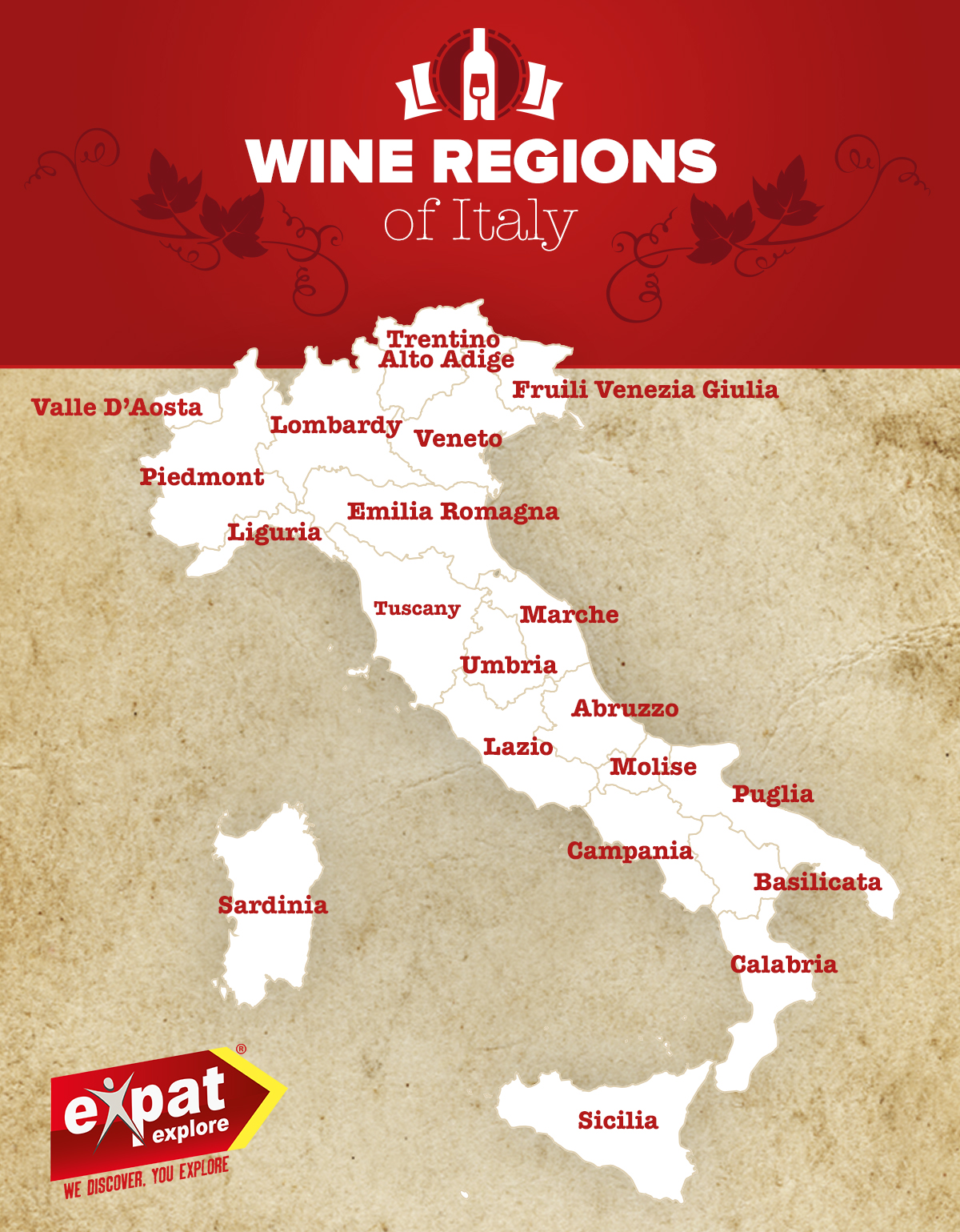 Wine Region Italy Map.Italy S 20 Wine Regions And What To Drink Where Expat Explore