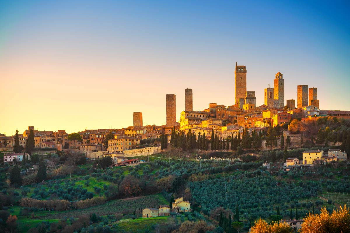 View of San Gimignano Italy