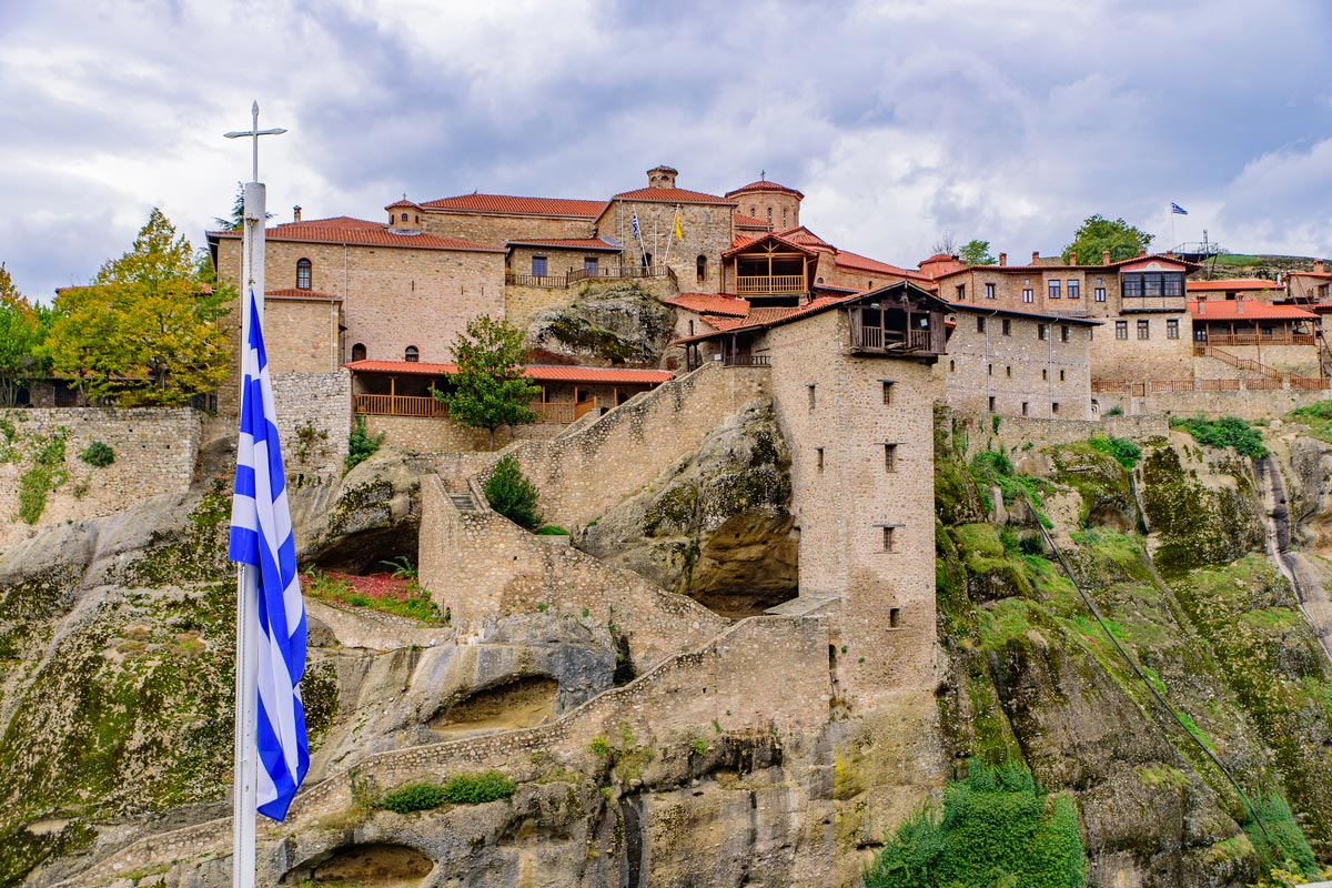 Holy Monastery of Great Meteoron, the largest Eastern Orthodox monastery in Meteora, Greece