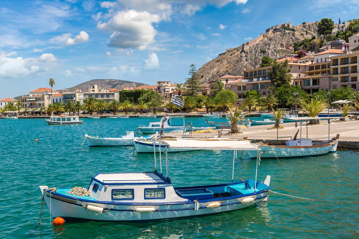 Nafplion beautiful port town in Greece