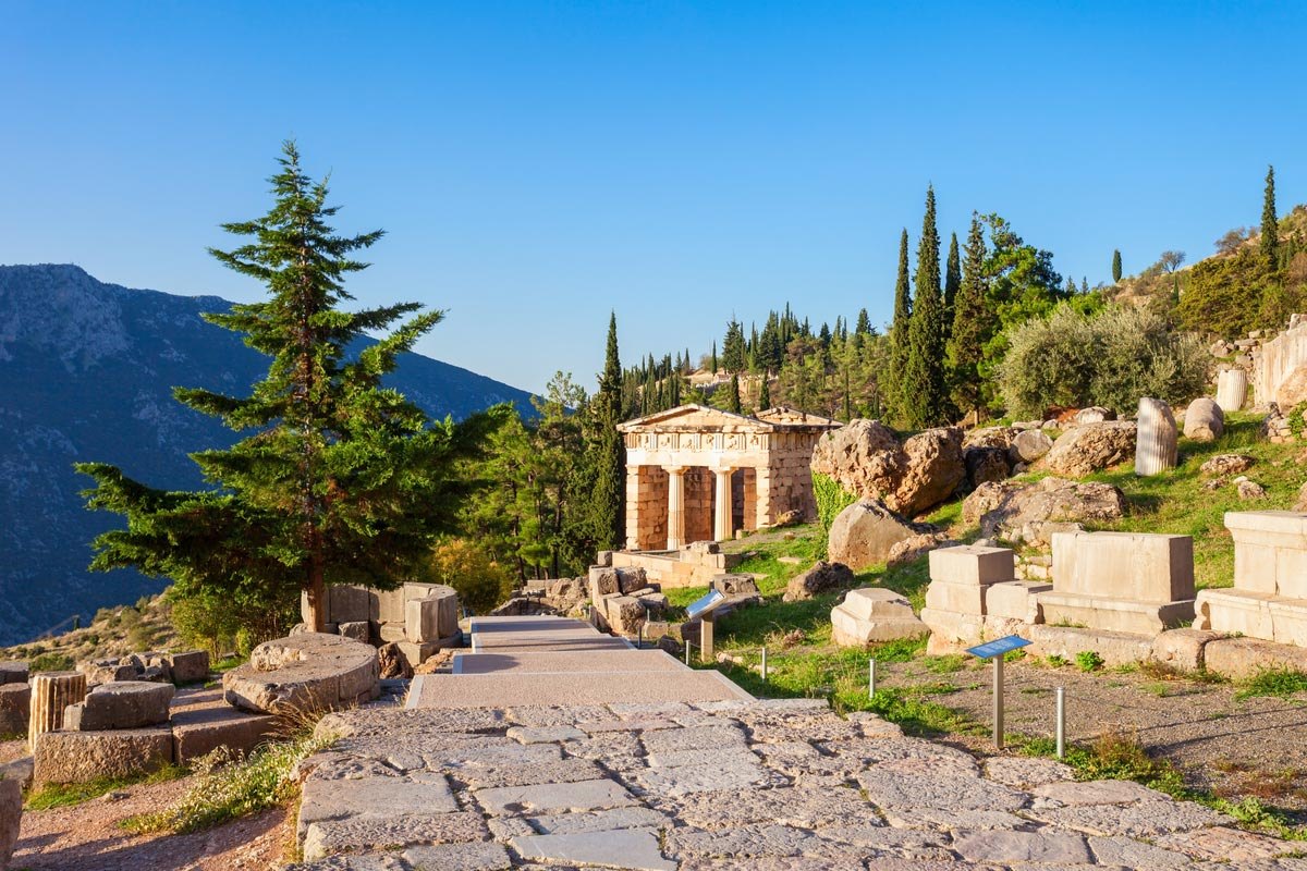 The Treasury of Athens or Athenian Treasure in Delphi