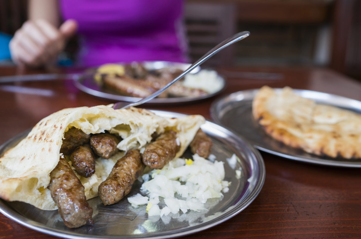 Ćevapi dish on table food bucket list