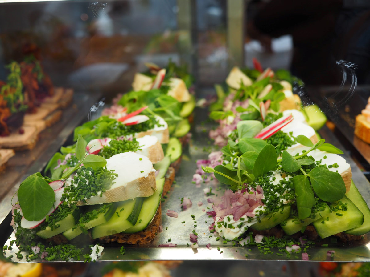 Smørrebrød with cheese and salad food bucket list
