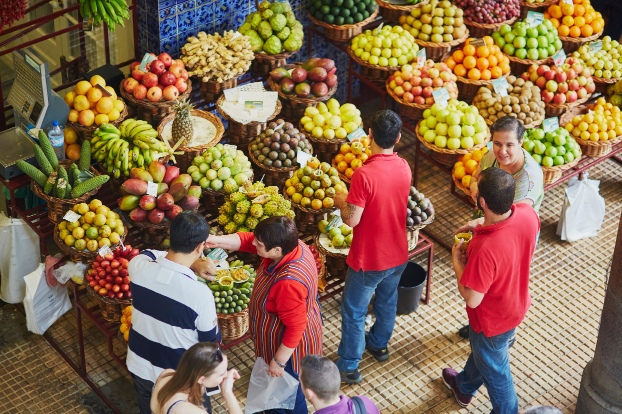 Fruit market in Portugal