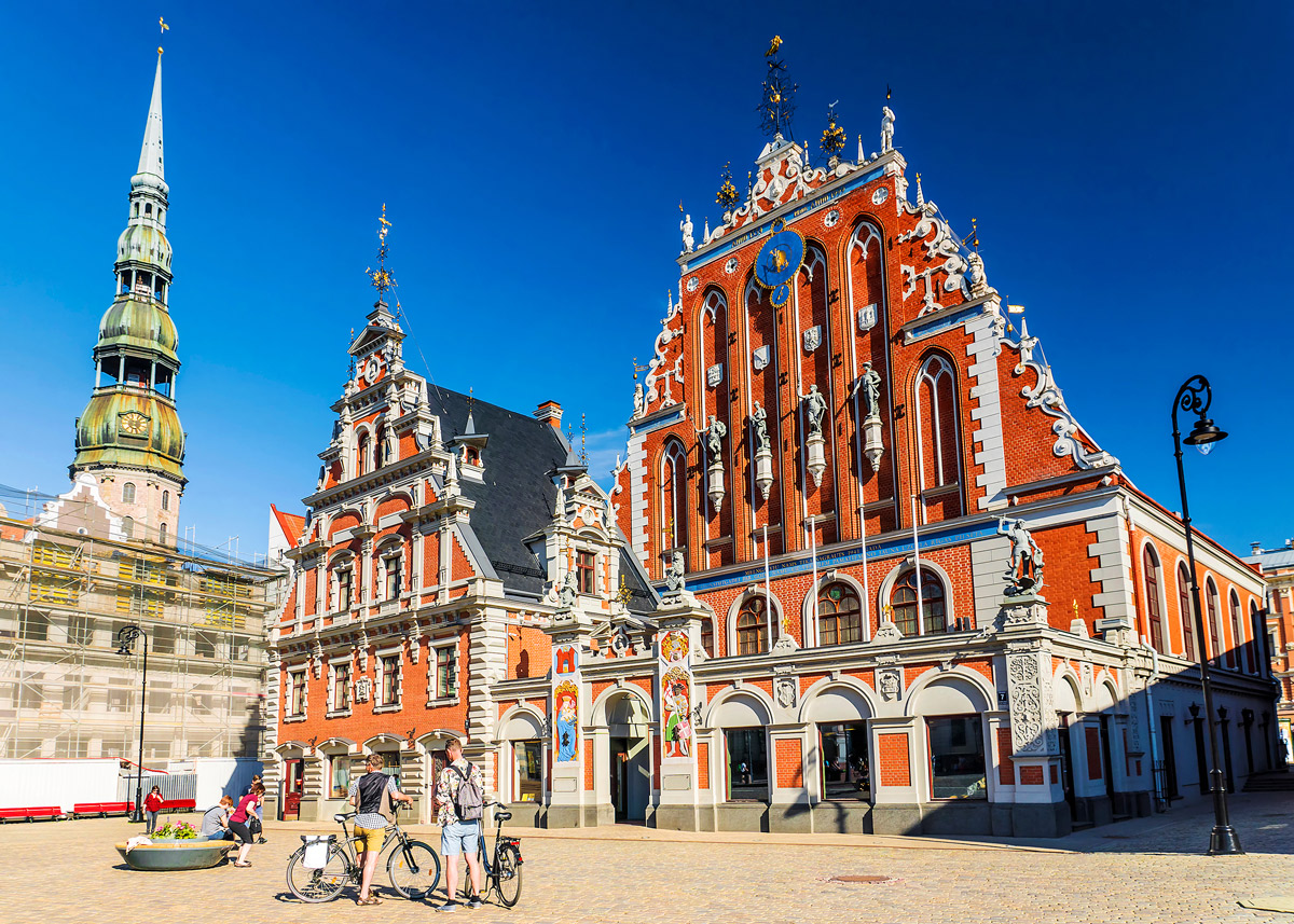 Town Hall Square in Riga, Latvia