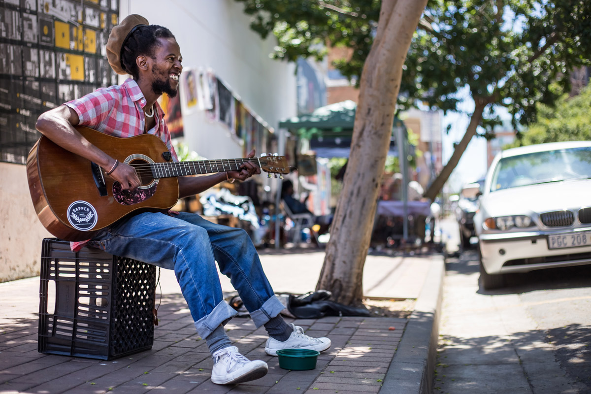 Local muso in Johannesburg, South Africa.