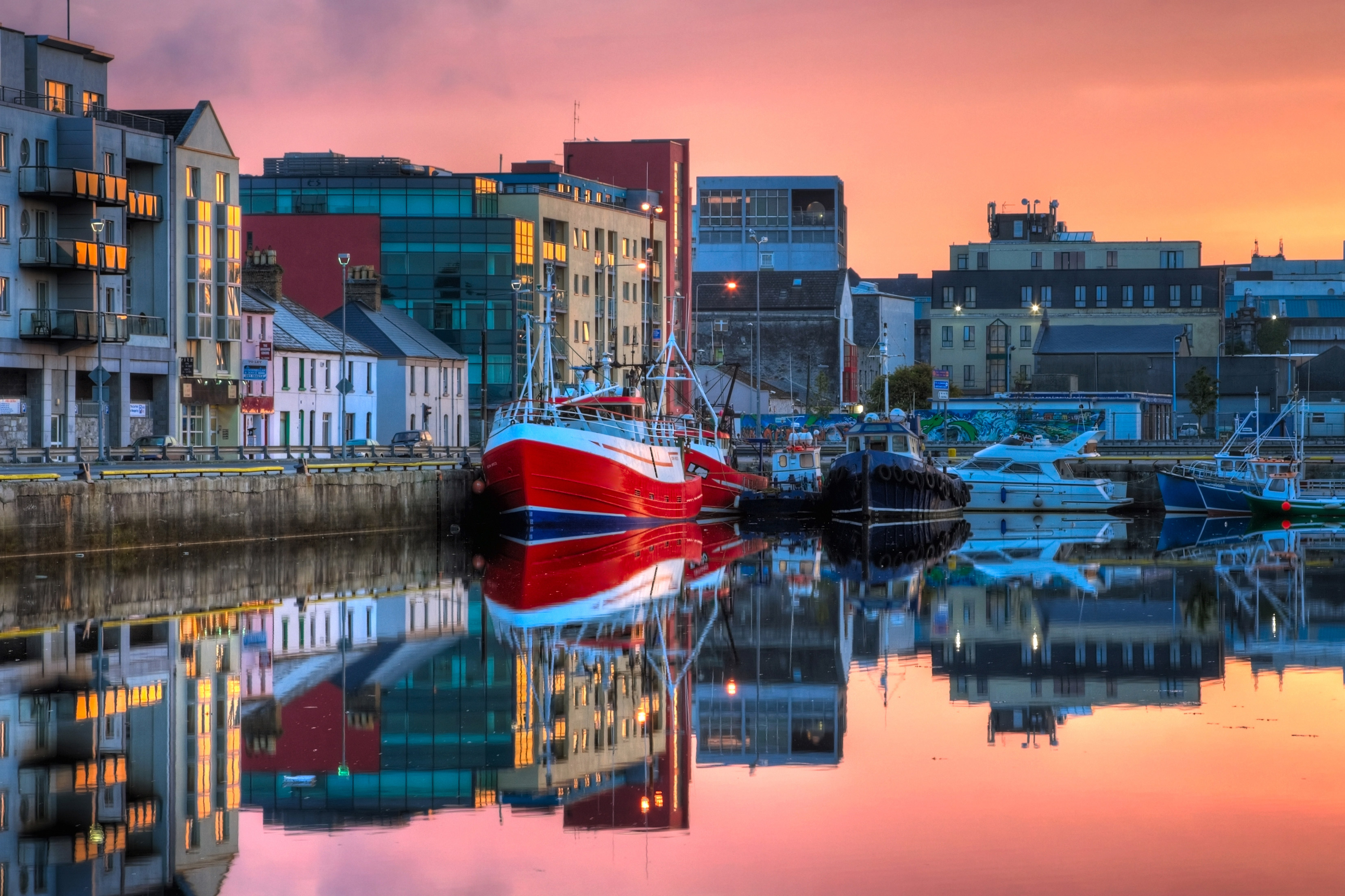 Harbour in Galway, Ireland