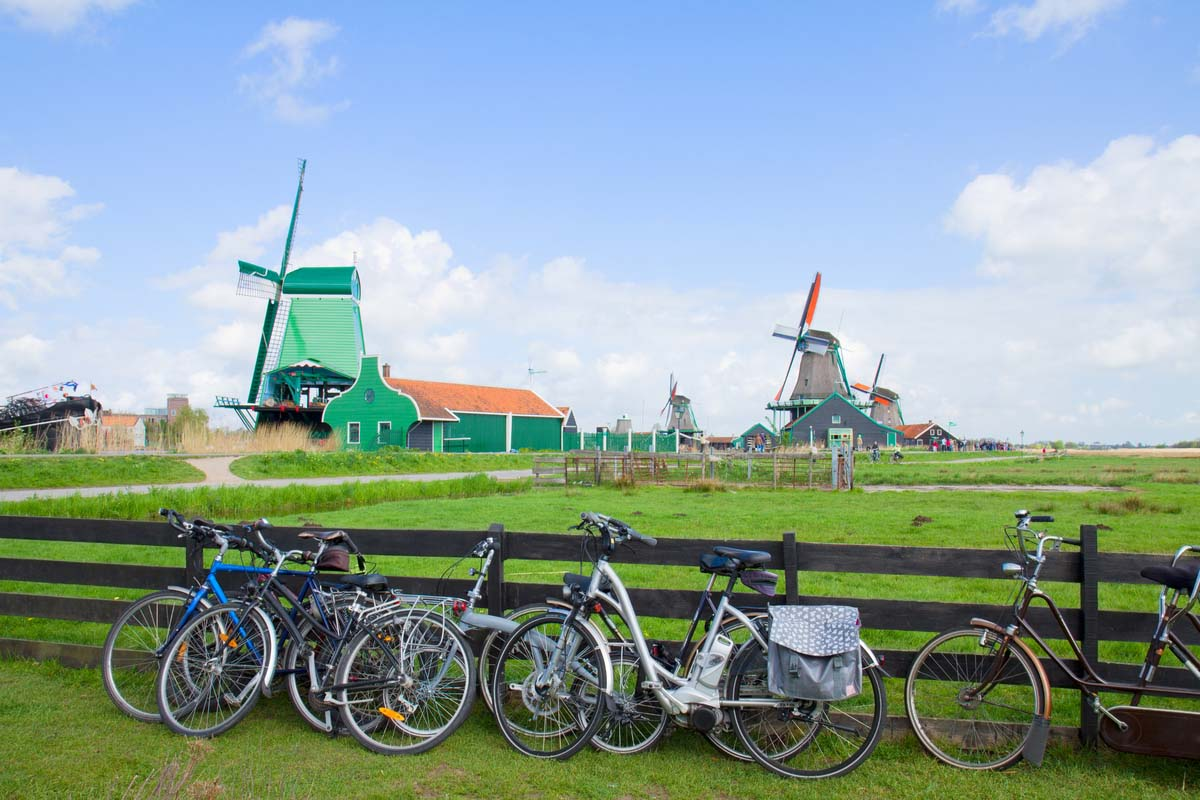 Bicycles used to explore the Dutch Countryside
