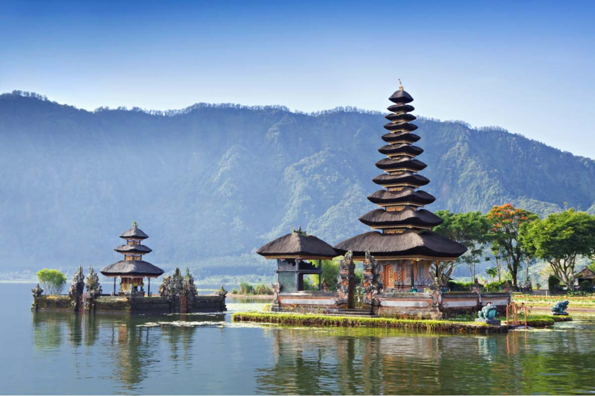 The Pura Beratan Temple of Bali