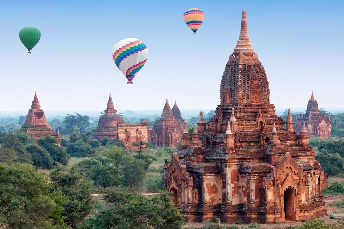 Famous temple in the archaeological zone in Burma, Bagan