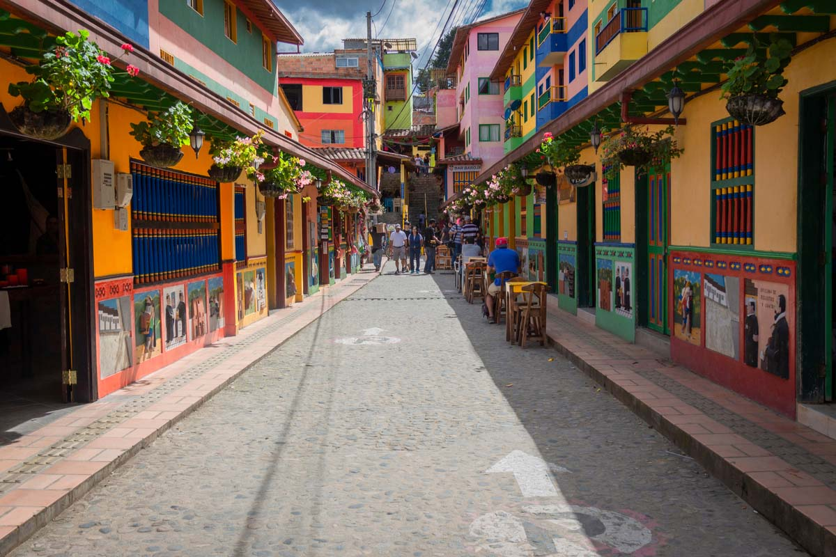 A quaint little town in Colombia