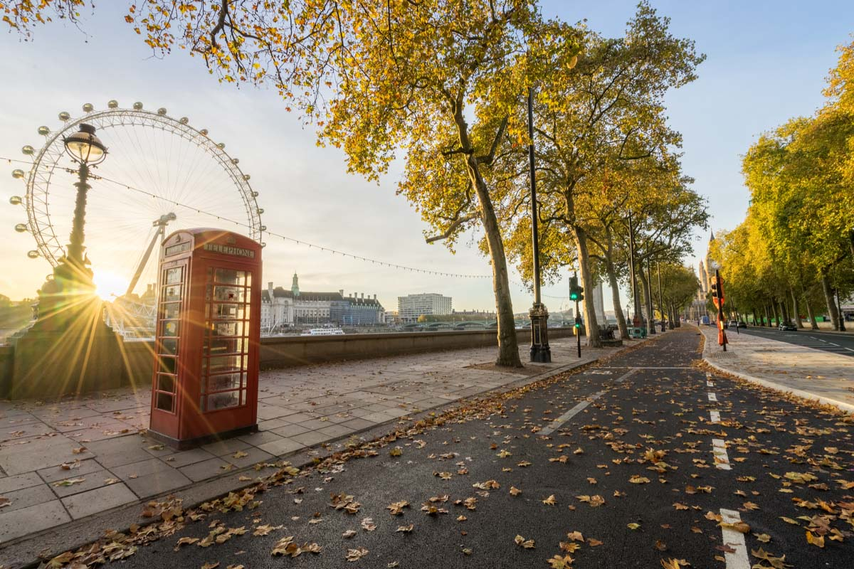 The unique red telephone booths of London