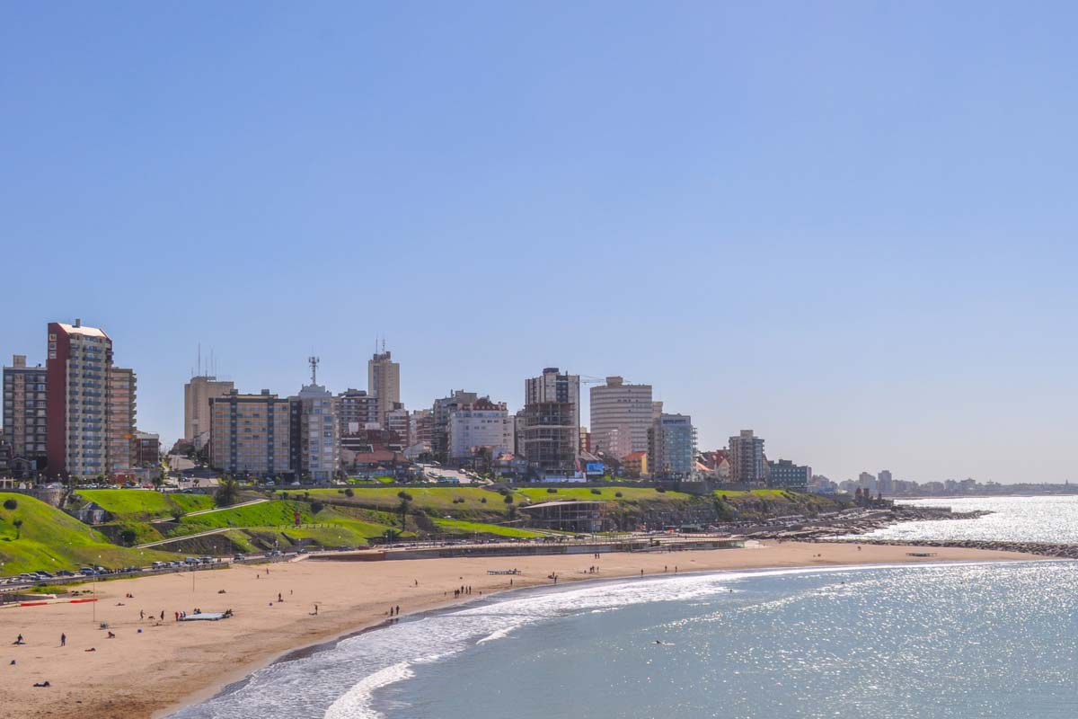Mar del Plata beach in Argentina