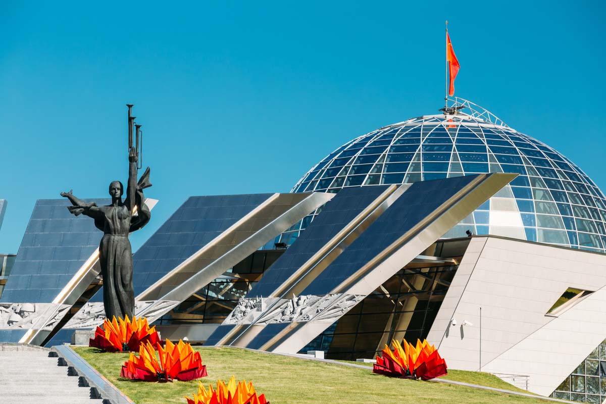 The monument at the Belorussian Museum of the Great Patriotic War