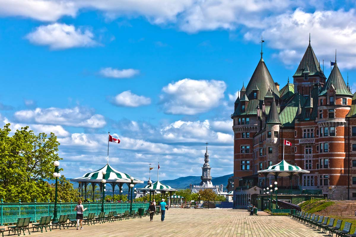 The famous Chateau Frontenac Hotel in Quebec City