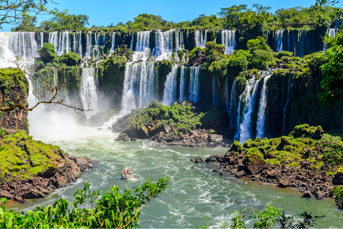 The Iguazu Falls from the Argentina side