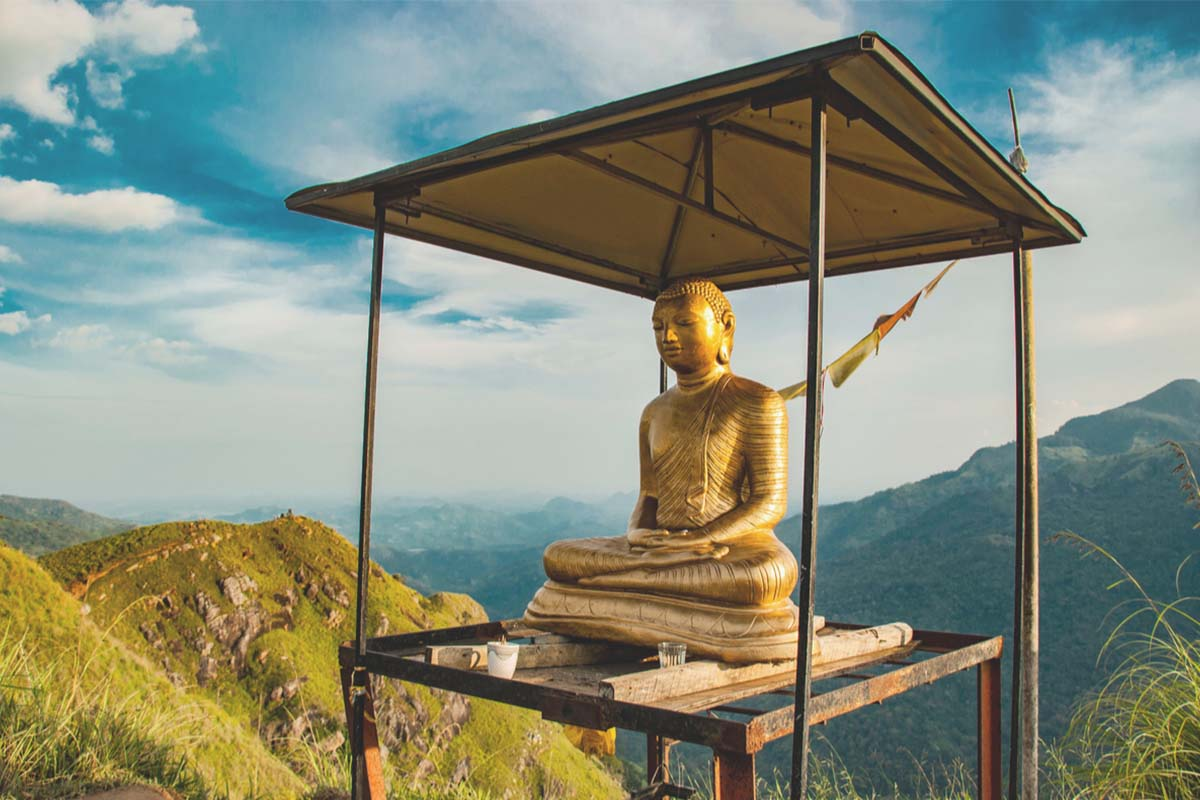 Famous Buddha statue at Adam's Peak