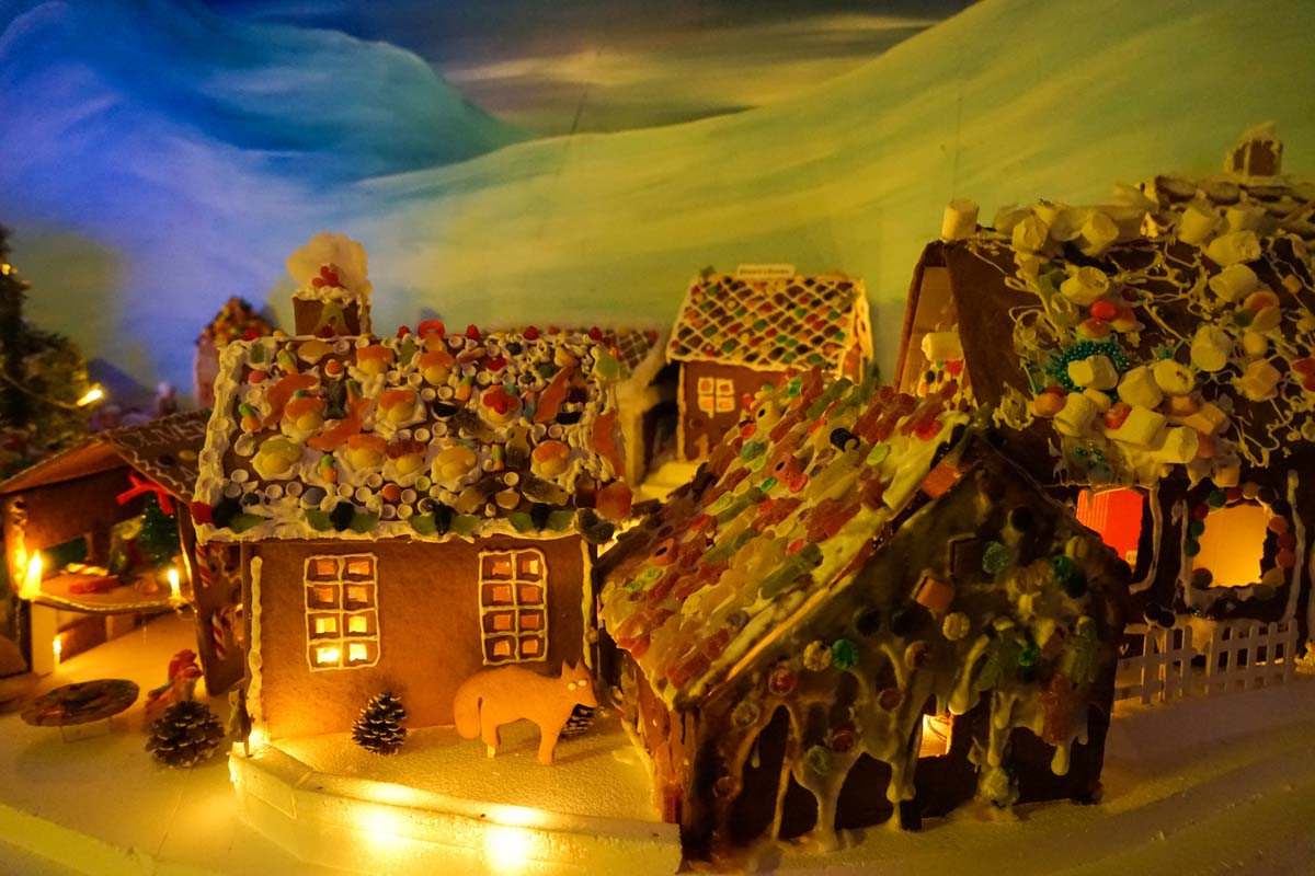 The annual Gingerbread Town in Bergen