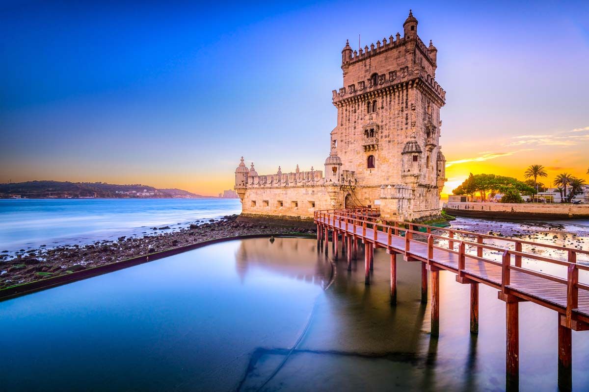 Belem tower on the Tagus river