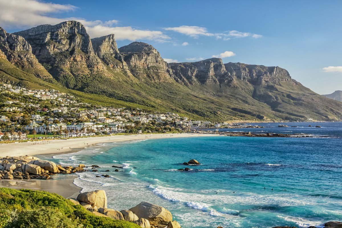 The beautiful City of Cape Town and its white sandy beaches