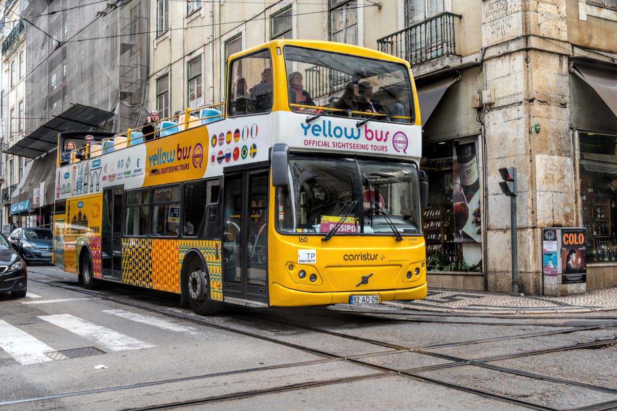 Hop-on hop-off bus in Lisbon