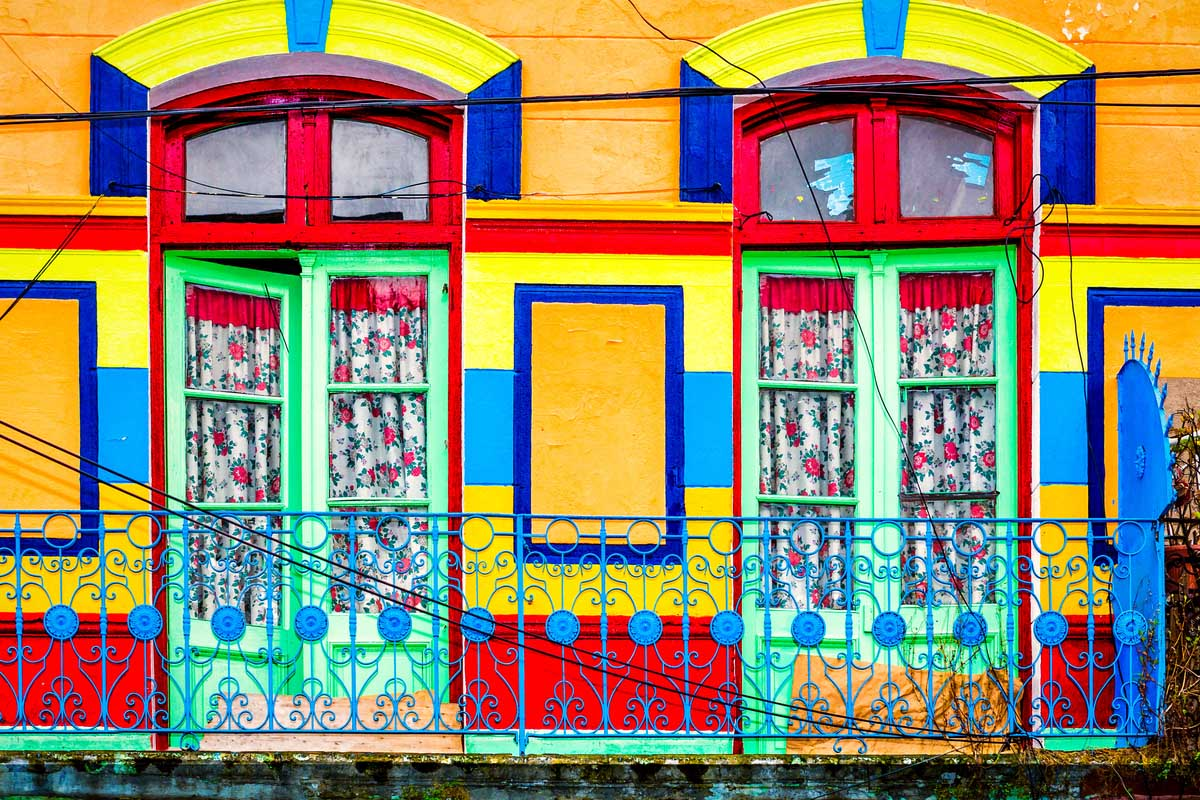 Colorful houses in La Boca, Brazil