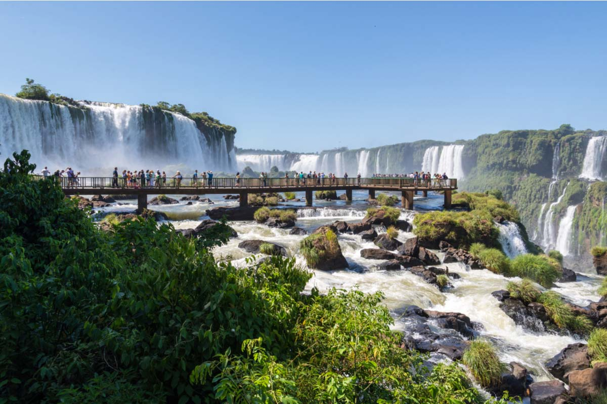 The Brazilian side of the Iguazu Falls