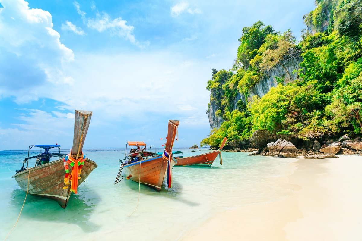 One of the beautiful beaches in Phuket, Thailand