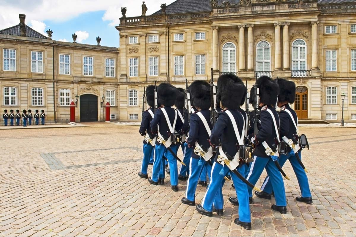 Royal guards in the Amalienborg Castle