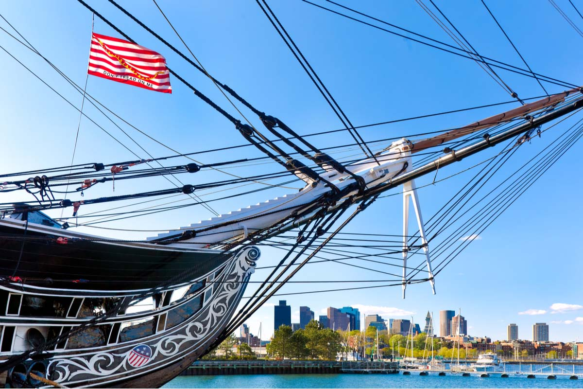 The oldest battleship in American history - USS Constitution