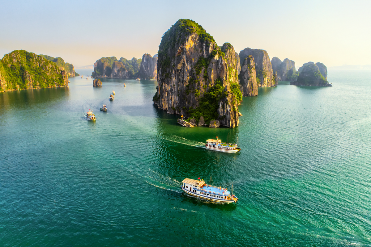 Islands in Ha Long Bay Vietnam Black Friday