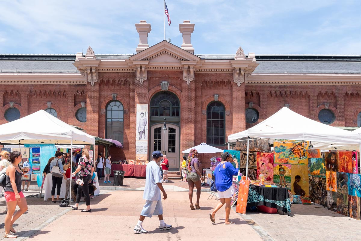 Historic Eastern Market in Capitol Hill neighborhood