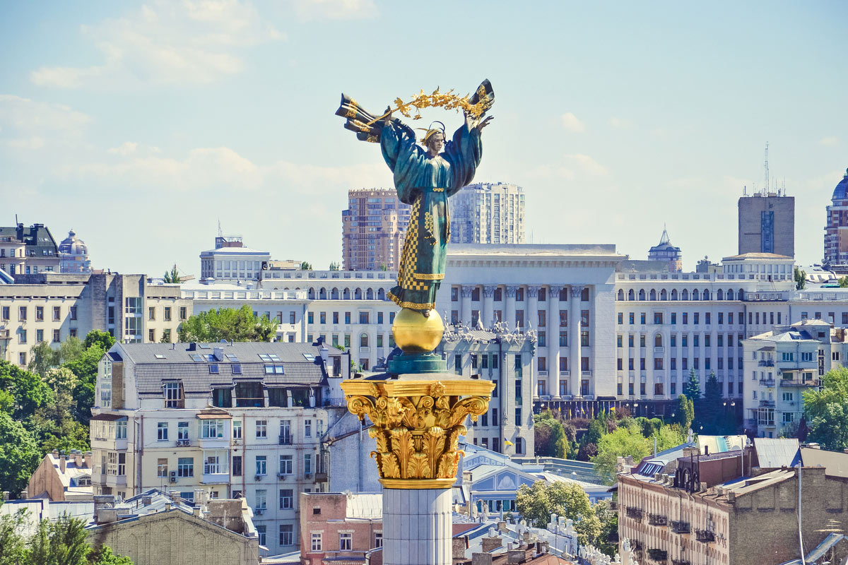 Khreshchatyk and Independence square in Kiev
